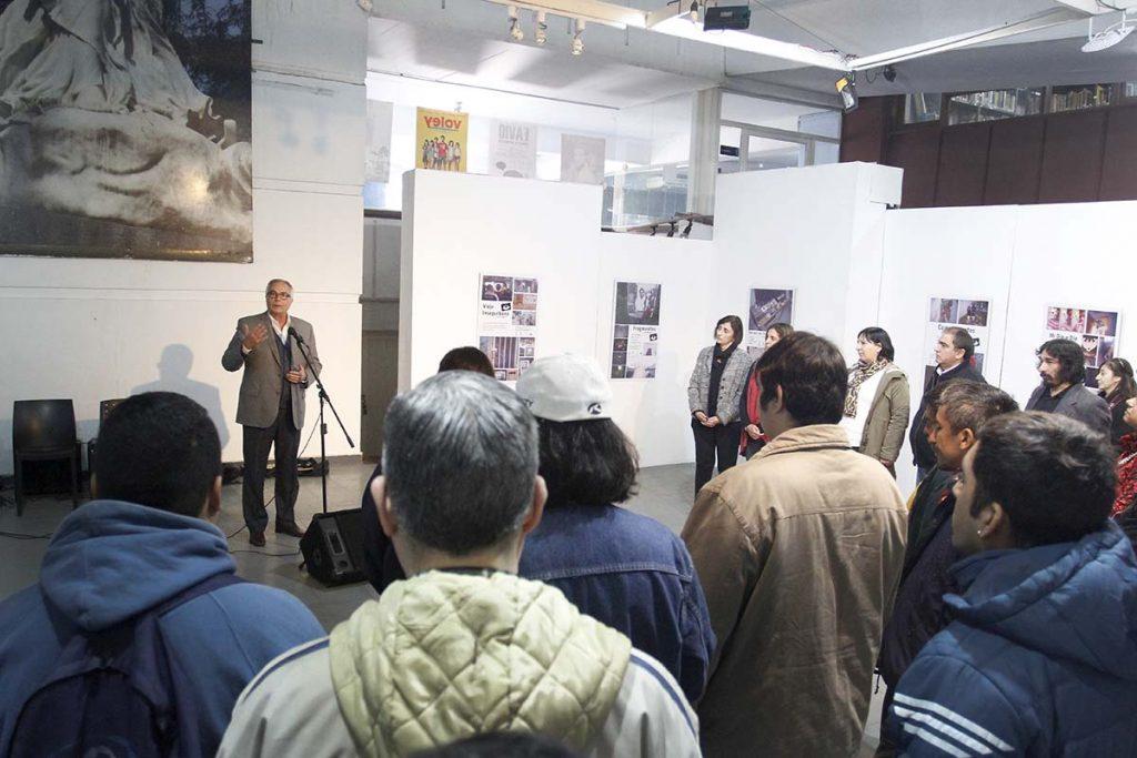 Vigliocco participó de la muestra fotográfica de los pacientes del hospital de Día