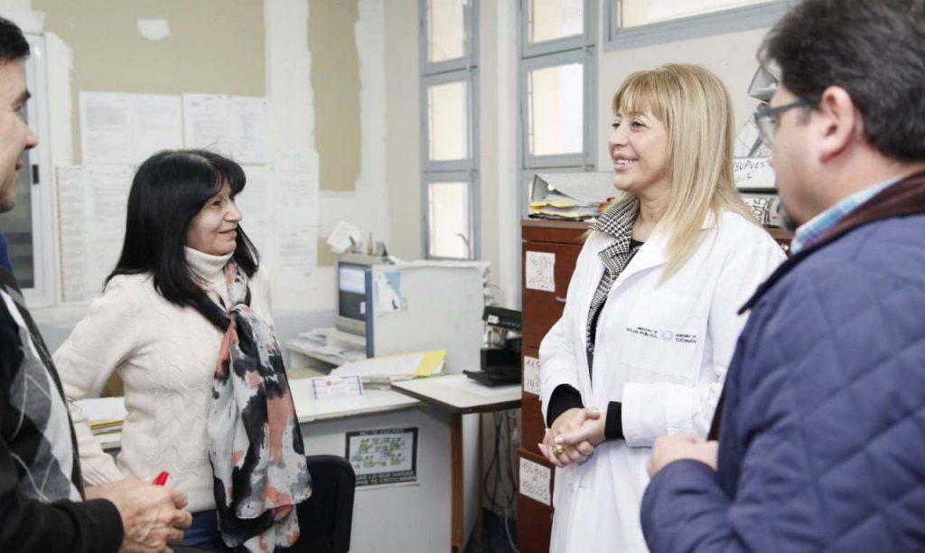 La ministra de Salud Pública visitó el hospital de Lules