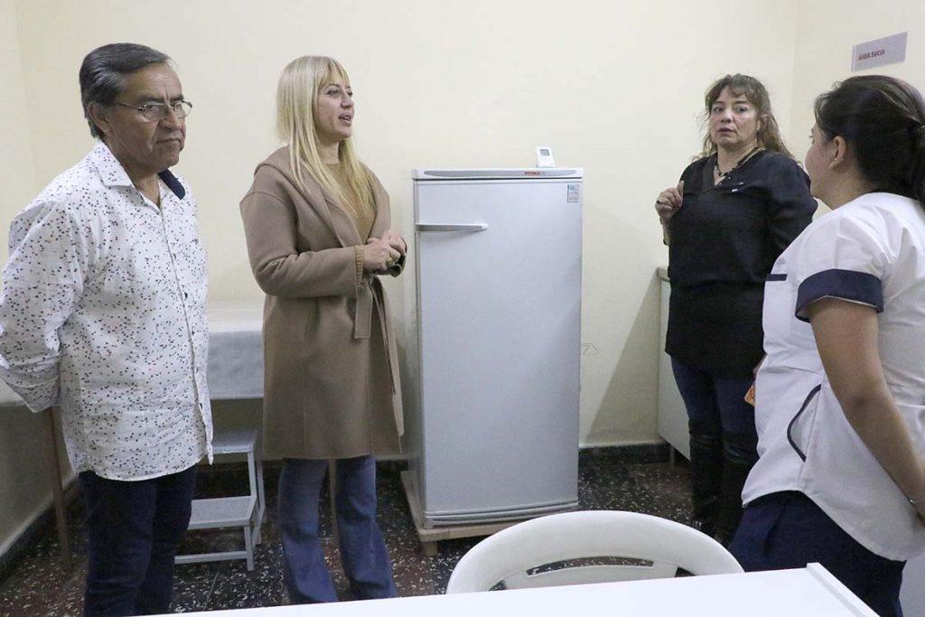 La ministra visitó los consultorios y vacunatorios del SOEM