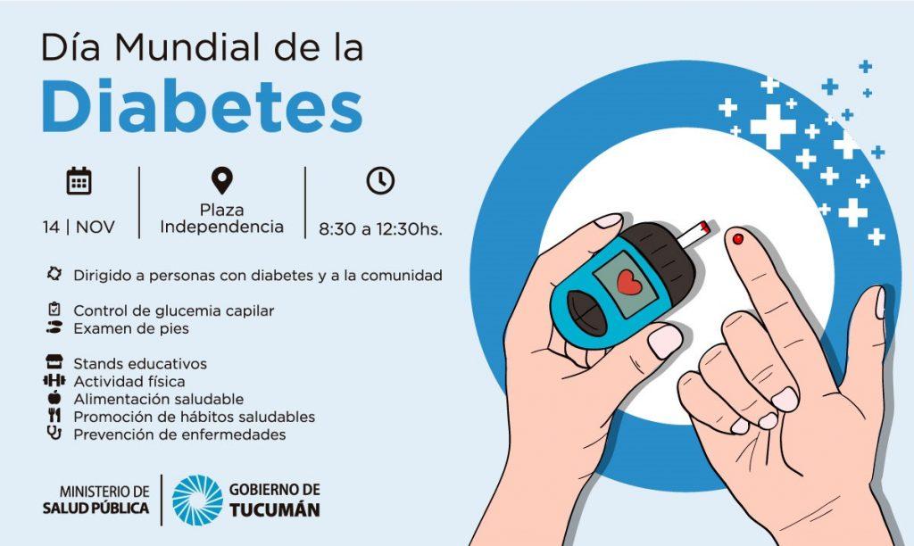 En el Día Mundial de la Diabetes se harán controles gratuitos en plaza Independencia