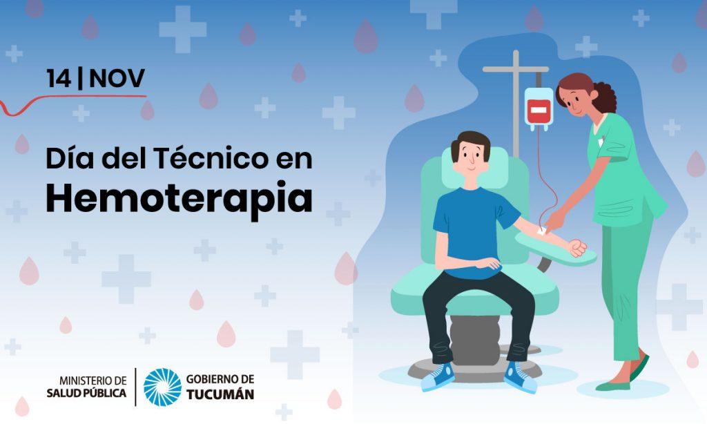 14 de noviembre: Día Nacional del Técnico en Hemoterapia