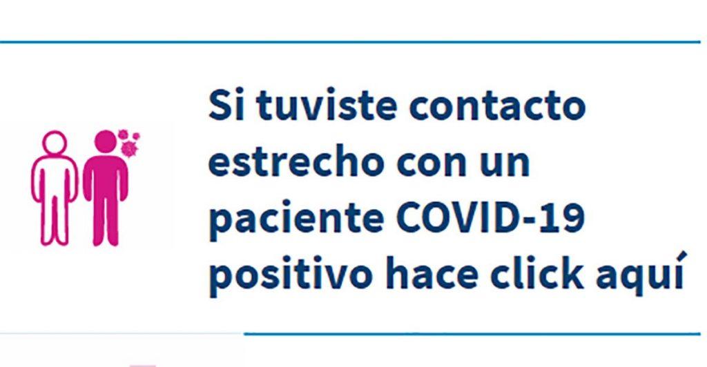 El Ministerio de Salud Pública habilitó una nueva vía para informar contacto estrecho con casos COVID-19 positivos