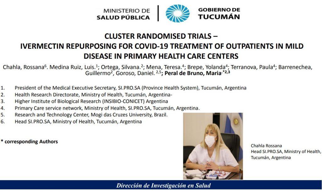 Tucumán aporta sus investigaciones para mejorar la evidencia de ivermectina para el tratamiento de Covid-19